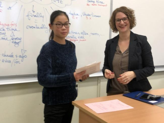 Visuel : Le « Cambridge English Certificate » aux Maristes édition 2019