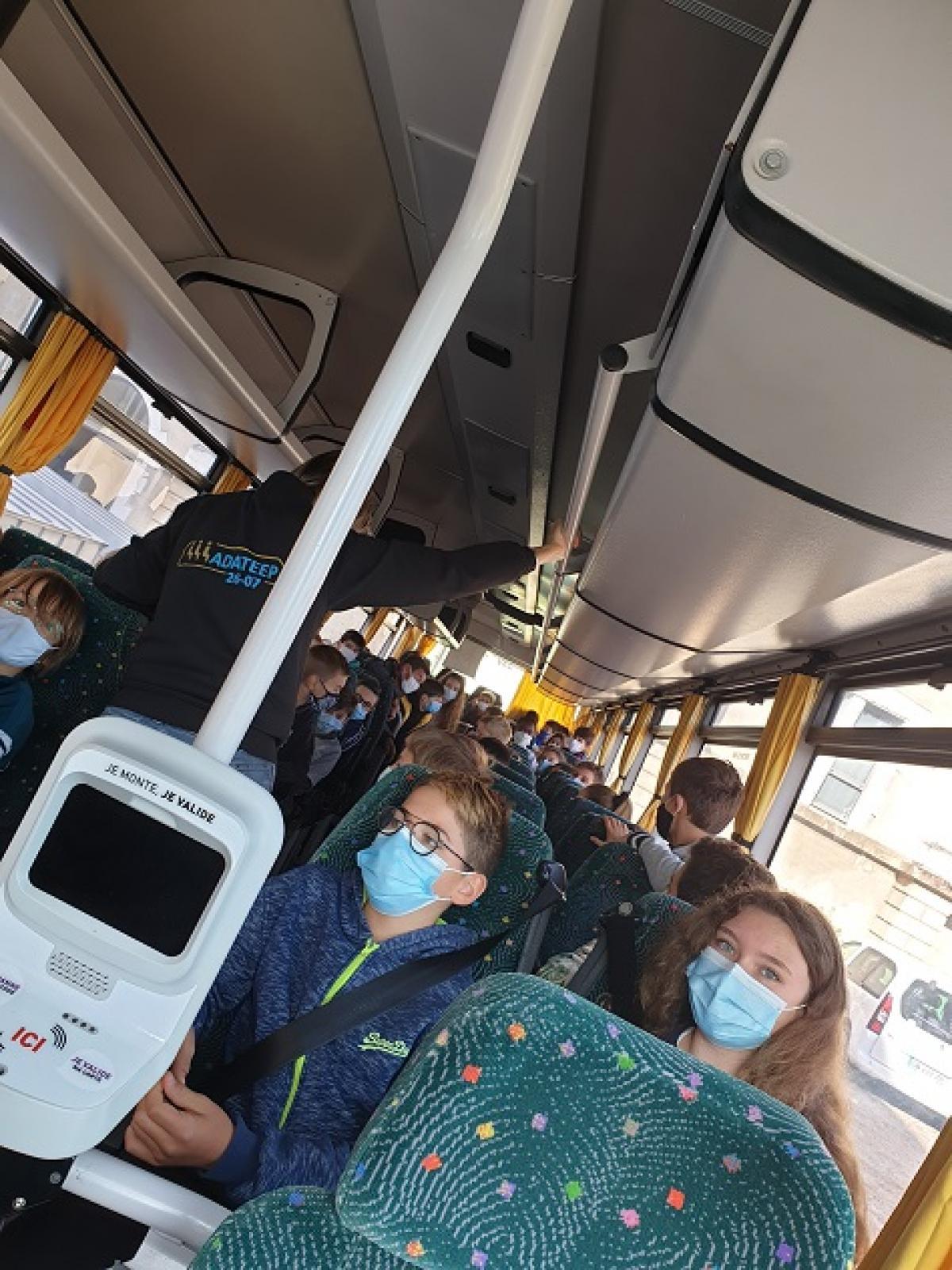 Visuel : Sensibilisation, prévention, sécurité dans les transports scolaires