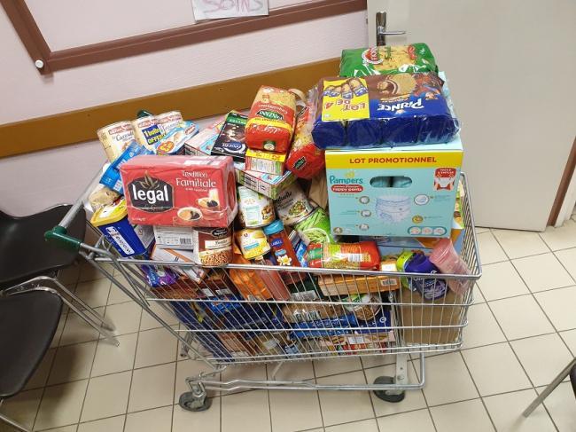 Visuel : Solidarité au collège, Opération bol de riz et Collecte alimentaire