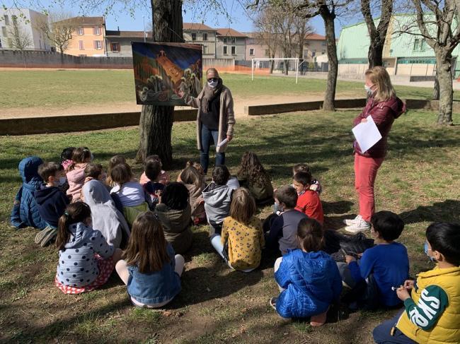 Visuel : Mobilisation des enfants de l'école de Bourg de Péage !