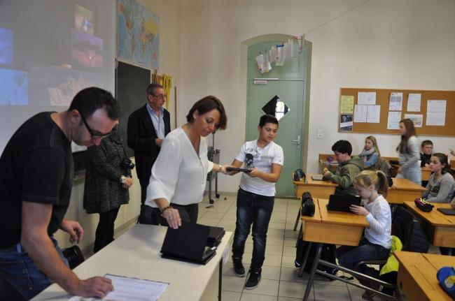 Visuel : Le numérique dans une classe de 6°