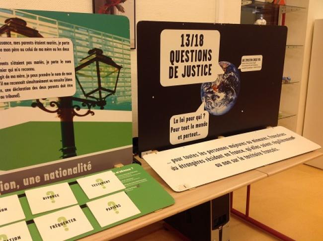 Visuel : Exposition « 13/18  Questions de Justice »