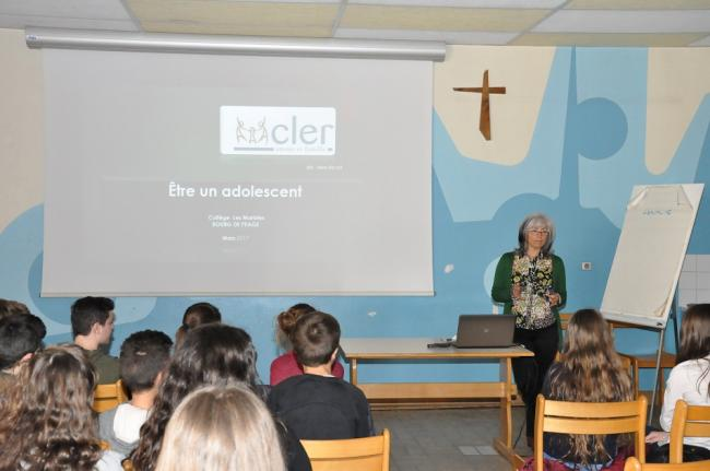 Visuel : Intervention du CLER sur l'Education Affective.